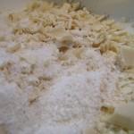 La noix de coco et le chocolat blanc