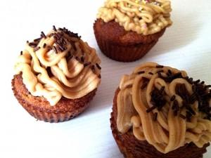 Les cupcakes après glaçage