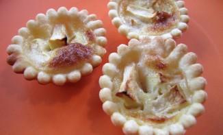 Mini tartelettes aux pommes, nappage à la bière