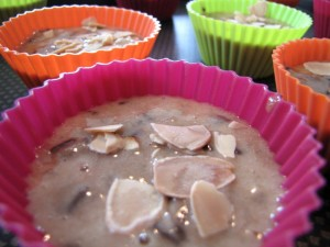 Les muffins avant la cuisson