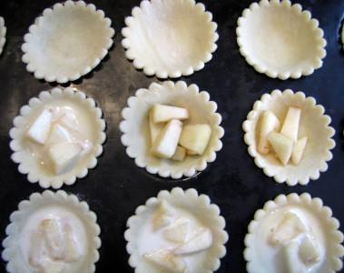 La préparation des mini tartelettes