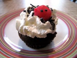 Cupcakes forêt noire