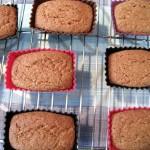 Les gâteaux après la cuisson