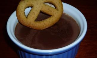 Flan au chocolat à l'agar agar et son biscuit façon pain d'épices paint