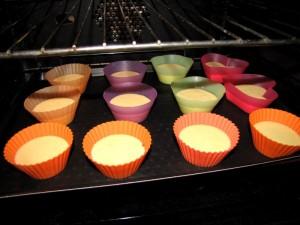 Les muffins dans le four