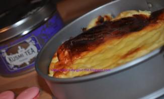Gâteau au fromage blanc et à la violette