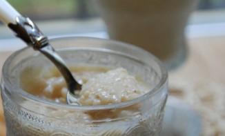 Riz au lait concentré sucré à la vanille