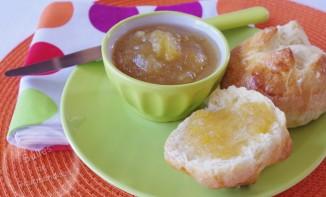Confiture de pommes poires vanillée à la fève tonka