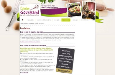 Les cours de cuisine de l'Atelier Gourmand