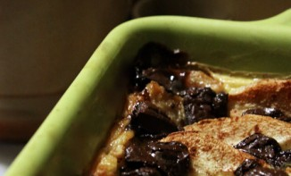 Pudding poire et chocolat