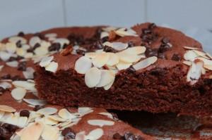 Gâteau tout choco et amandes craquantes