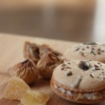 Macarons tofu-figue-gingembre