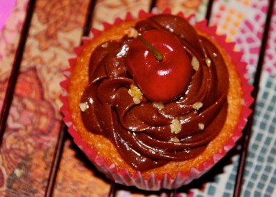 Cupcakes chocolat cerise