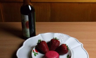 Macarons fraise-balsamique