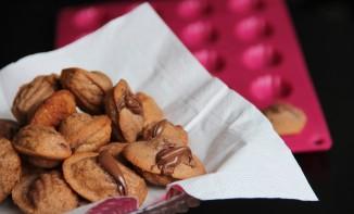 Mini Madeleines à la pâte à tartiner Choco Noisette