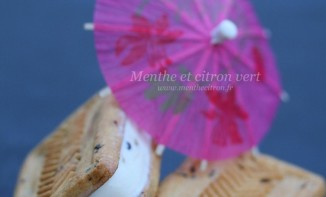 Sandwich glacé, biscuits aux pépites de chocolat fourrés de crème glacée vanille et chip cookies dough