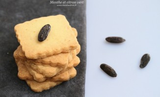 Sablés façon petit-beurre parfumés à la fève Tonka