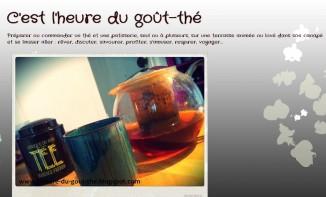 Portrait de blog : C'est l'heure du goût-thé