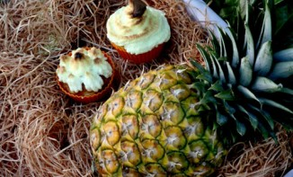 Cupcakes ananas meringue