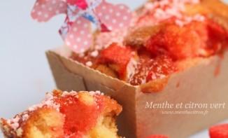 Mini-cakes régressifs aux fraises tagada et leur crème toute rose