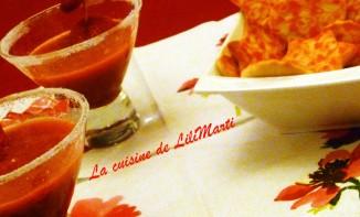 Crème de fraises et ses petits sablés roses