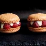 Macarons framboises vanilles