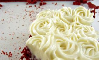 Red Velvet Brownie et son crèmage au chocolat blanc
