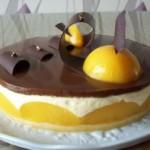 Gâteau aux pêches