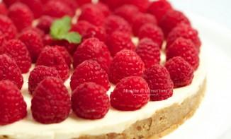 Recette Cheesecake au lemoncurd et aux framboises du marché