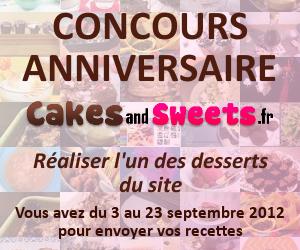 concours anniversaire desserts