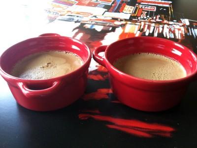 Les flans au café