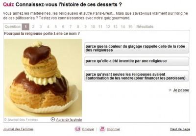 Quizz : connaissez-vous l'histoire des desserts ?