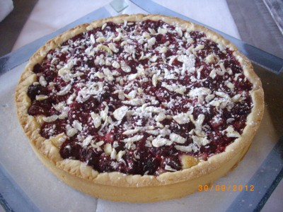 recette tarte amande framboises