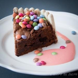fondant chocolat et oursons en guimauve