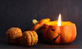 Macarons au potimarron et aux noisettes