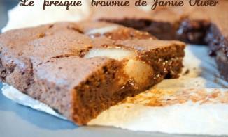 Brownie poire et chocolat