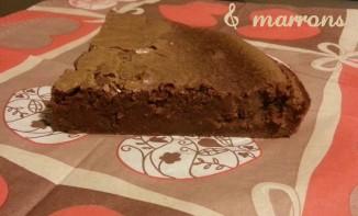 Fondant chocolat et crème de marrons