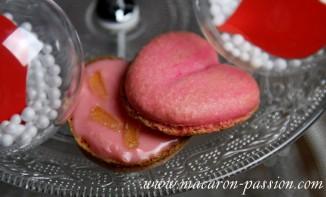 Macarons eau de rose et gingembre
