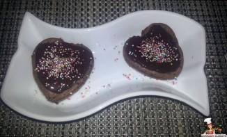 Coeur fondant au chocolat mascarpone Glaçage chocolat gingembre