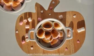 Compote de rhubarbe et sa meringue de chamallows