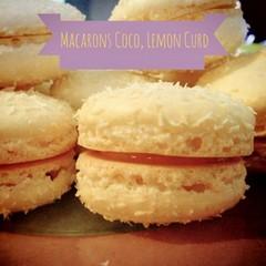 Macarons noix de coco, lemon curd
