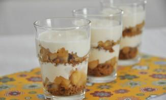 Tiramisu aux poires caramélisées et son chocolat blanc au Grand-Marnier