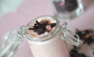 Riz au lait à la fleur d'hibiscus