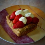 Tarte aux fraises, crème de pistache