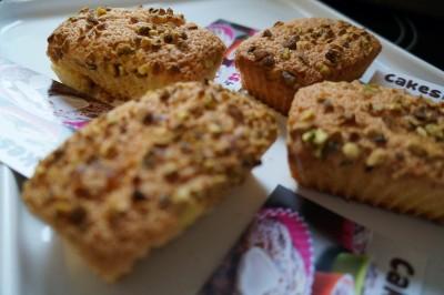 Muffins aux éclats de pistache