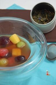 Salade de fruits exotiques au thé