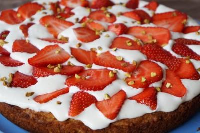 Tarte aux fraises et noix de coco