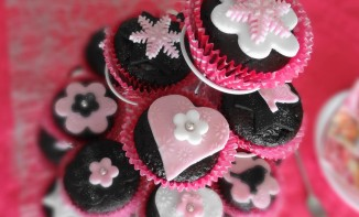 Cupcakes au chocolat version girly
