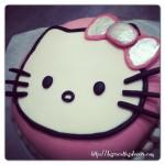 Bubble cake hello kitty