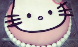 Bubble cake Hello kitty